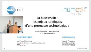 """CONFERENCE """"La blockchain : les enjeux juridiques d'une promesse technologique"""""""