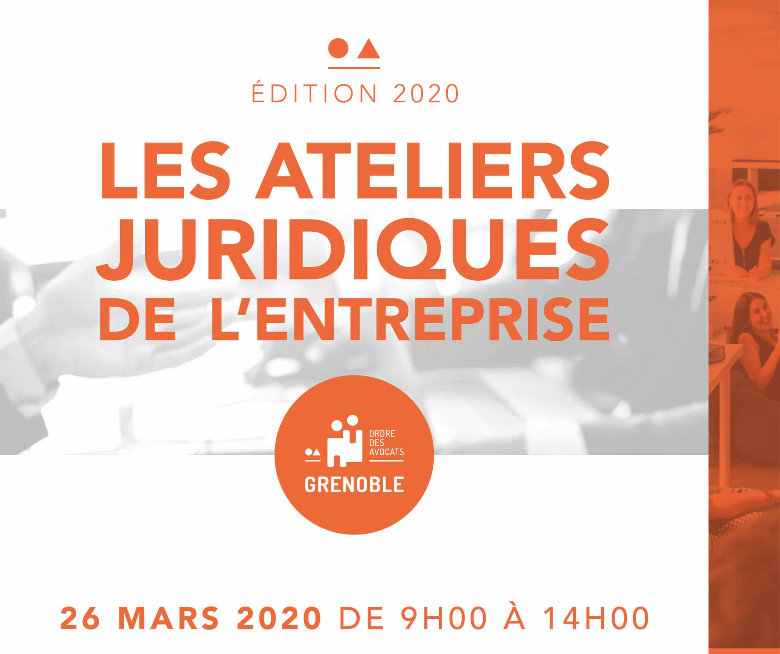Les Ateliers Juridiques de l'Entreprise – Edition 2020